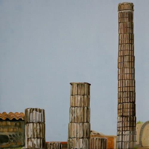 Pompeii ruins columns