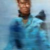 Gennaro Santaniello-Memories-Woman with blue coat 1