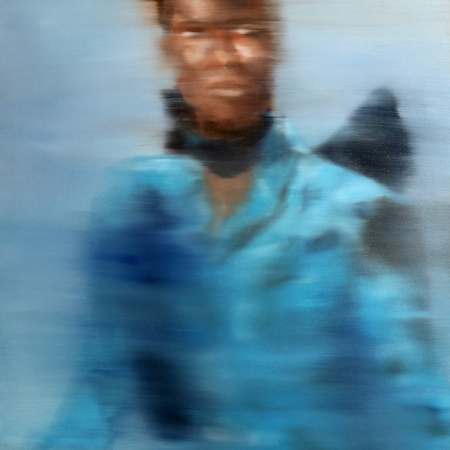 Gennaro Santaniello-Memories-Woman with blue coat 1